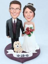 Sweethearts wedding bobbleheads