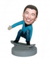 Skateboard player bobblehead