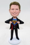 Superman with company logo bobbleheads