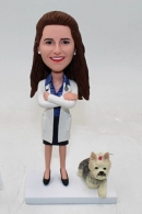 Custom doctor bobbleheads with dog