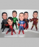 Superhero custom bobbleheads set