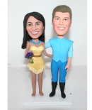 Custom Pocahontas wedding cake toppers