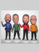 Retirement Bobbleheads for 4 persons