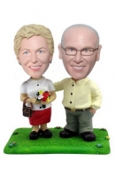 Old couple bobbleheads custom
