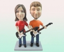 custom bobbleheads- Guitar couple