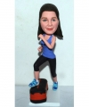 Custom workout bobblehead