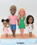 Custom beach boblehead family of 4