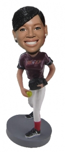 Personalized Bobblehead Softball