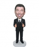 Custom bobbleheads-two thumps up