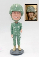 Custom military bobblehead in camo