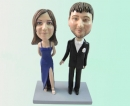 Couple bobbleheads - evening suit