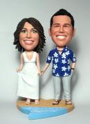Beach custom wedding bobbleheads