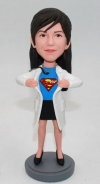 Custom girl doctor bobbleheads