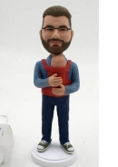 Custom dad with baby bobblehead - Father's Day gifts