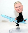 Man on airplane custom bobbleheads