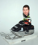 Custom snowmobile driver bobblehead