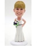 Custom bride bobble heads