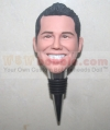 His face custom metal bottle stopper