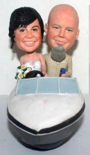 Motorboat custom wedding cake toppers