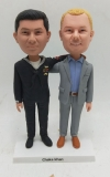 Custom bobbleheads with one man in navy uniform and another suit