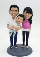 Family of 3 custom bobbleheads