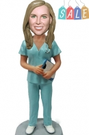 Female Surgeon custom bobbleheads