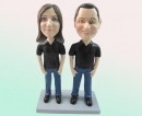 Couple bobbleheads in black