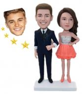 Custom couple bobbleheads with celebrity