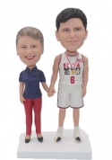 Custom Bobbleheads for two person basketball theme