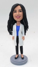 Custom bobblehead female doctor dentist