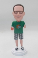 Custom Bobblehead with beer