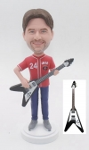 Custom Bobbleheads Playing Gibson Bass Guitar
