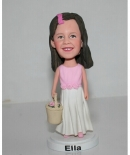 Flower girl bobblehead 2414-1