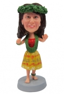 Custom bobbleheads hula girl