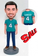 Custom bobblehead in baseball miami dolphins jersey