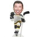Custom ice hockey bobblehead