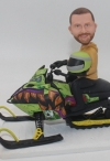 Custom bobbleheads snowmobile