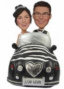 Sitting in car wedding bobbleheads