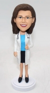 Custom bobblehead doctor with stethoscope