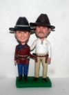 Country/Cowboy couple bobbleheads