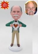 Custom superman bobblehead gift for Dad