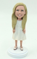 Custom Flower girls bobbleheads for gift