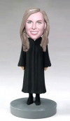 Female Judge custom bobblehead