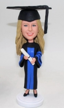 Custom bobblehead dolls graduation gift