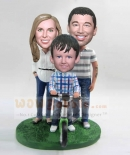 Custom Family of three bobbleheads