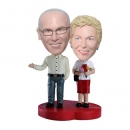 Old couple comic bobbleheads