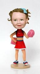 Custom Cheer Learder bobbleheads