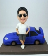 Custom stand by car bobblehead