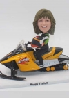 Custom bobbleheads snowmobile driver