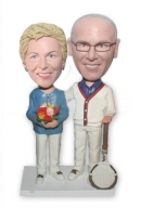 Tennis Old couple bobbleheads